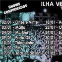 Com quatorze shows gratuitos, Ilha Verão 2015 começa no reveillon e prossegue até o Carnaval